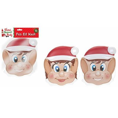 2ast Boy Girl Elf Design Face  Mask In Tray.polybag Hdr With Hdr