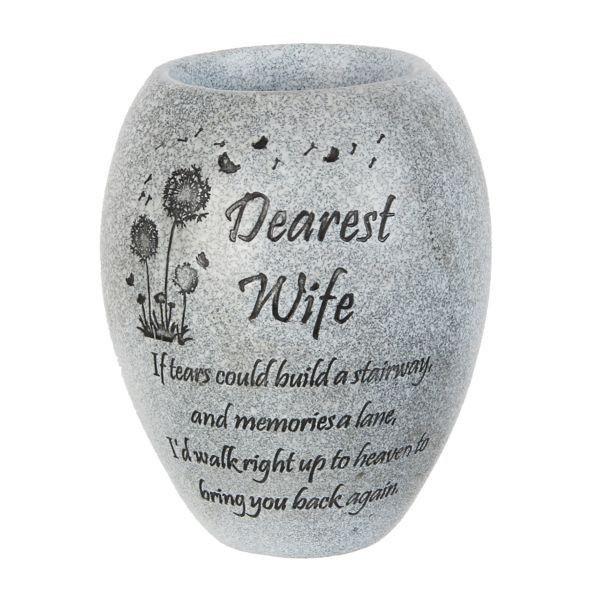 Graveside Memorial Vase - Dearest Wife
