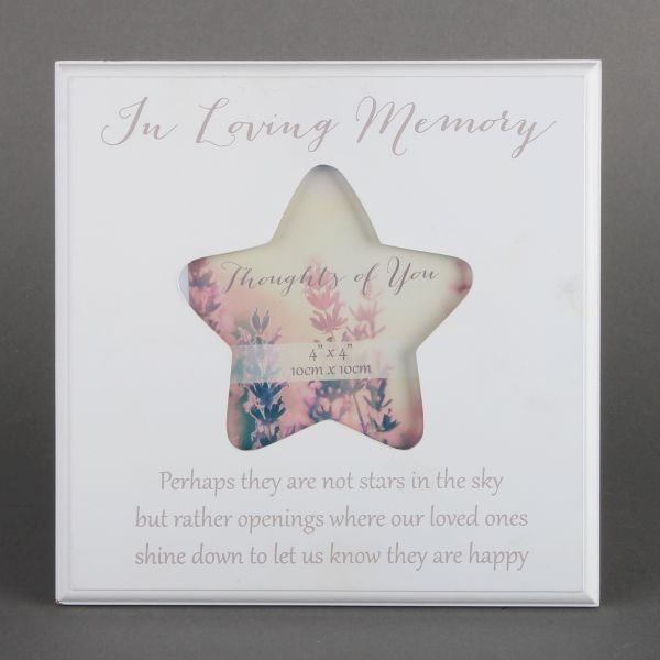 Thoughts Of You Mdf Star Frame - Loving Memory