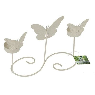 Cream Table Butterfly Garden   Candle Holder
