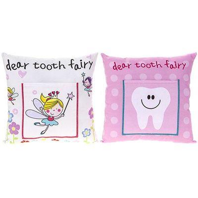 20x20cm Tooth Fairy Cushion Girl Design 2  Assorted
