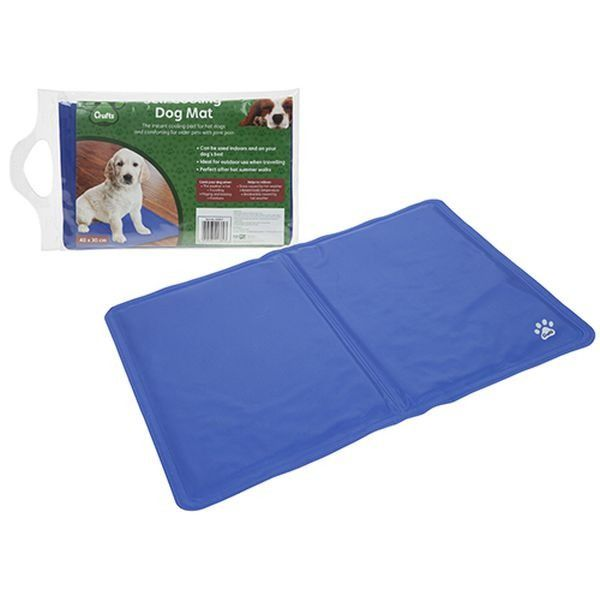 Crufts Pet Cooling Mat In Pvc  Bag With Carry Handle + Colour Label