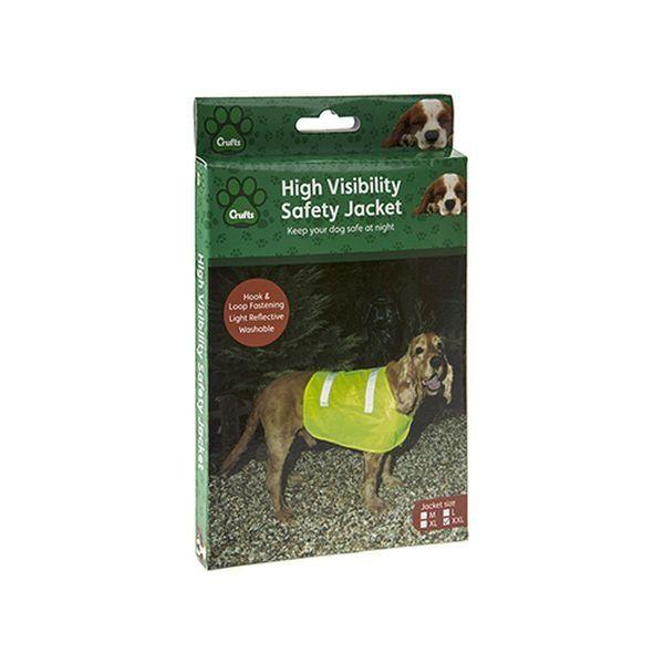 Crufts Hi Vis Pet Safety Vest  4 Assorted  Sizes