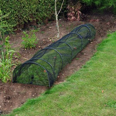 Netted Grow Tunnel Assembled