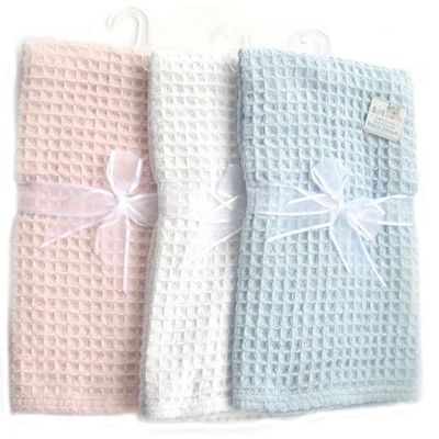 Knitted Chenille Waffle Blanket By Soft Touch