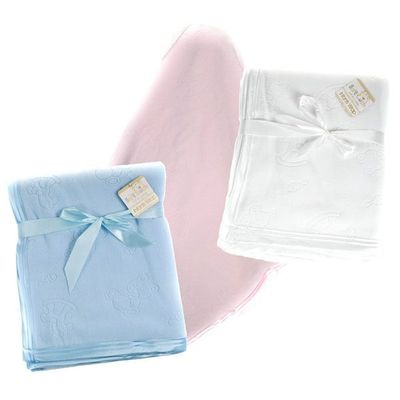 Embossed Micro Fleece Blanket By Soft Touch