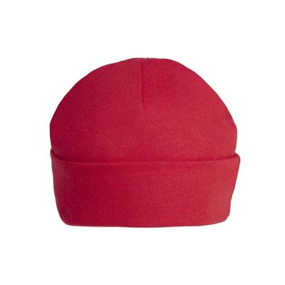Red Unbranded 0-3m Plain Baby Beanie Hat