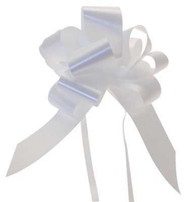White Pull Bow