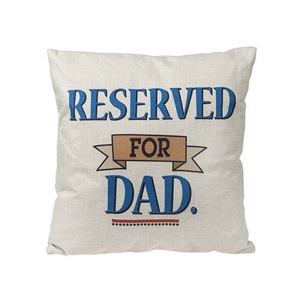 16x16 Inch Dad Square Cushion With Hang   Tag In 2 Piece Vacuum Pack