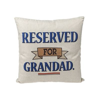 16x16 Inch Grandad Sq Cushion With   Hangtag