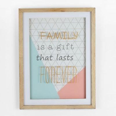 Botanica Collection Mdf Frame - Family Is A Gift