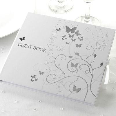 Elegant Butterfly Guest Book