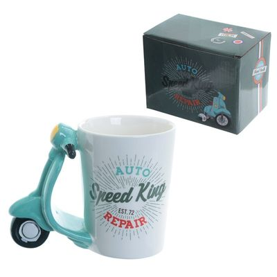 Speed King Scooter Shaped Handle Mug