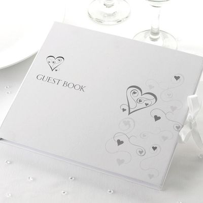 Contemporary Hearts Guest Book