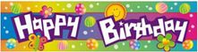 Happy Birthday Dots Banner