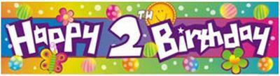 Happy 2nd Birthday Banner