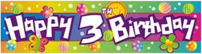Happy 3rd Birthday Banner