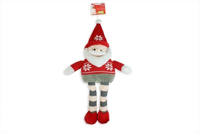Christmas Plush Santa Dog Toy