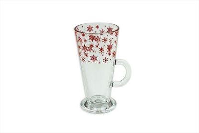 Snowflake Christmas Latte / Hot Chocolate Glass