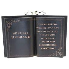 Black Husband Memorial Vase