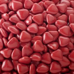 Burgundy Mini Heart Dragees