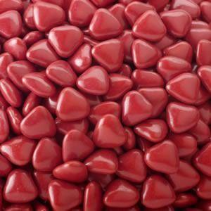 Burgundy Mini Heart Dragees