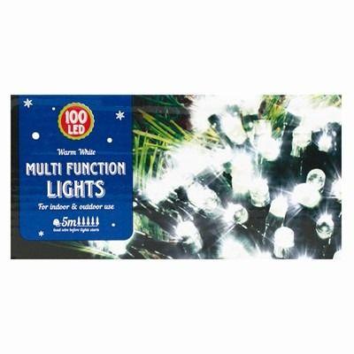 Christmas Led Multi Function Lights - 100 White Lights
