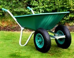 Green Duo Clipper Wheelbarrow