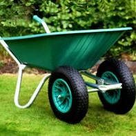 Green Duo Clipper Wheelbarrow