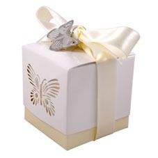 Ivory Butterfly Favour Boxes
