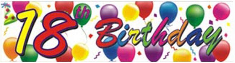 18th Birthday Balloons Banner