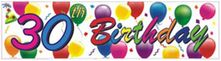 30th Birthday Balloons Banner