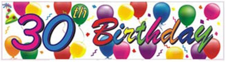 30th Birthday Balloons Banner
