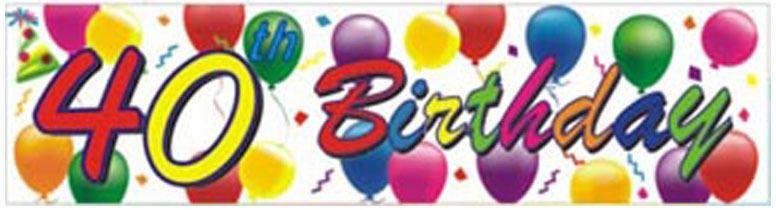 40th Birthday Balloons Banner