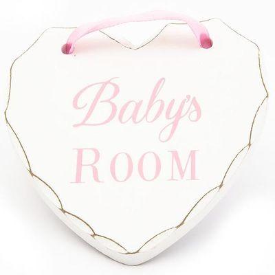 Babys Room wooden Heart - pink