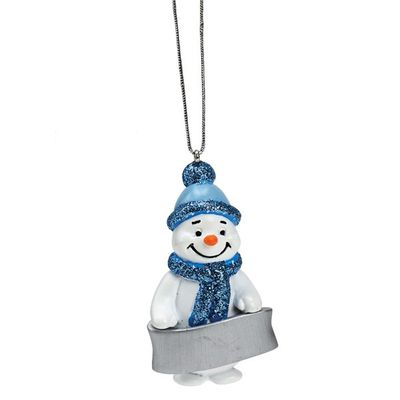 Snowman Blank Decoration ideal for personalisation