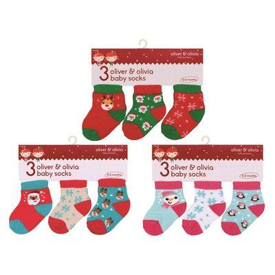 Christmas Baby Socks 0-6 months