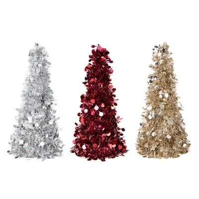 Tinsel Christmas Tree 31cm
