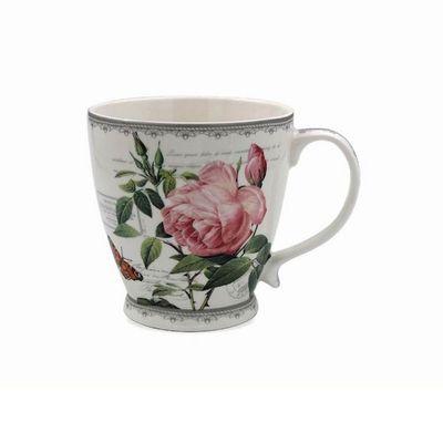 Redoute Rose Breakfast Mug  by Leonardo Collection