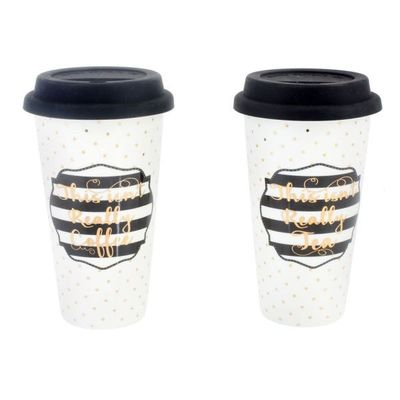 Simply Chic Travel Mug 2 Asst  by Leonardo Collection