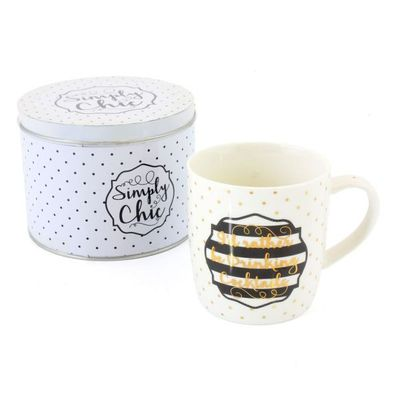 Simply Chic Mug In A Tin  by Leonardo Collection