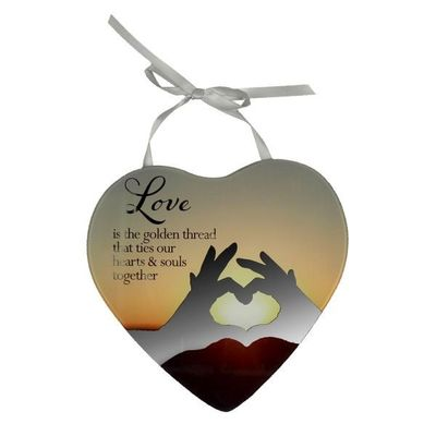 Reflections Of The Heart Mirror Plaque - Love