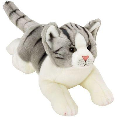Yomiko Resting Grey & White Tabby Cat Medium