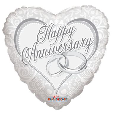 Happy Anniversary Rings Balloon