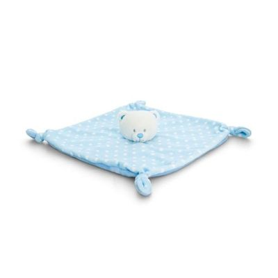 25cm Baby Bear Blanket 2  Assorted By Keel Toys - Blue & Pink