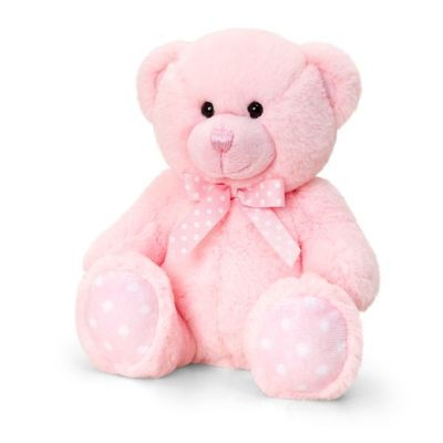 25cm Baby Spotty Bear- Pink By Keel Toys