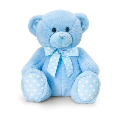 25cm Baby Spotty Bear- Blue By Keel Toys