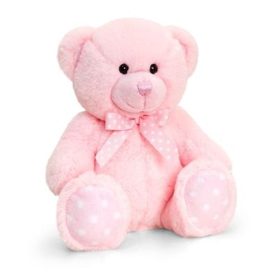 35cm Baby Spotty Bear- Pink By Keel Toys