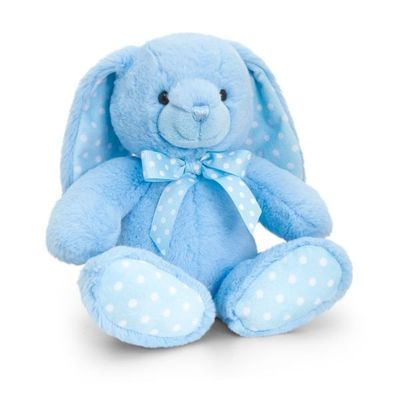 25cm Baby Spotty Rabbit - Blue By Keel Toys