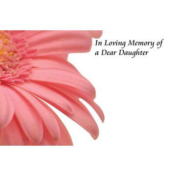 In Loving Memory of a Daughter Greetings Card